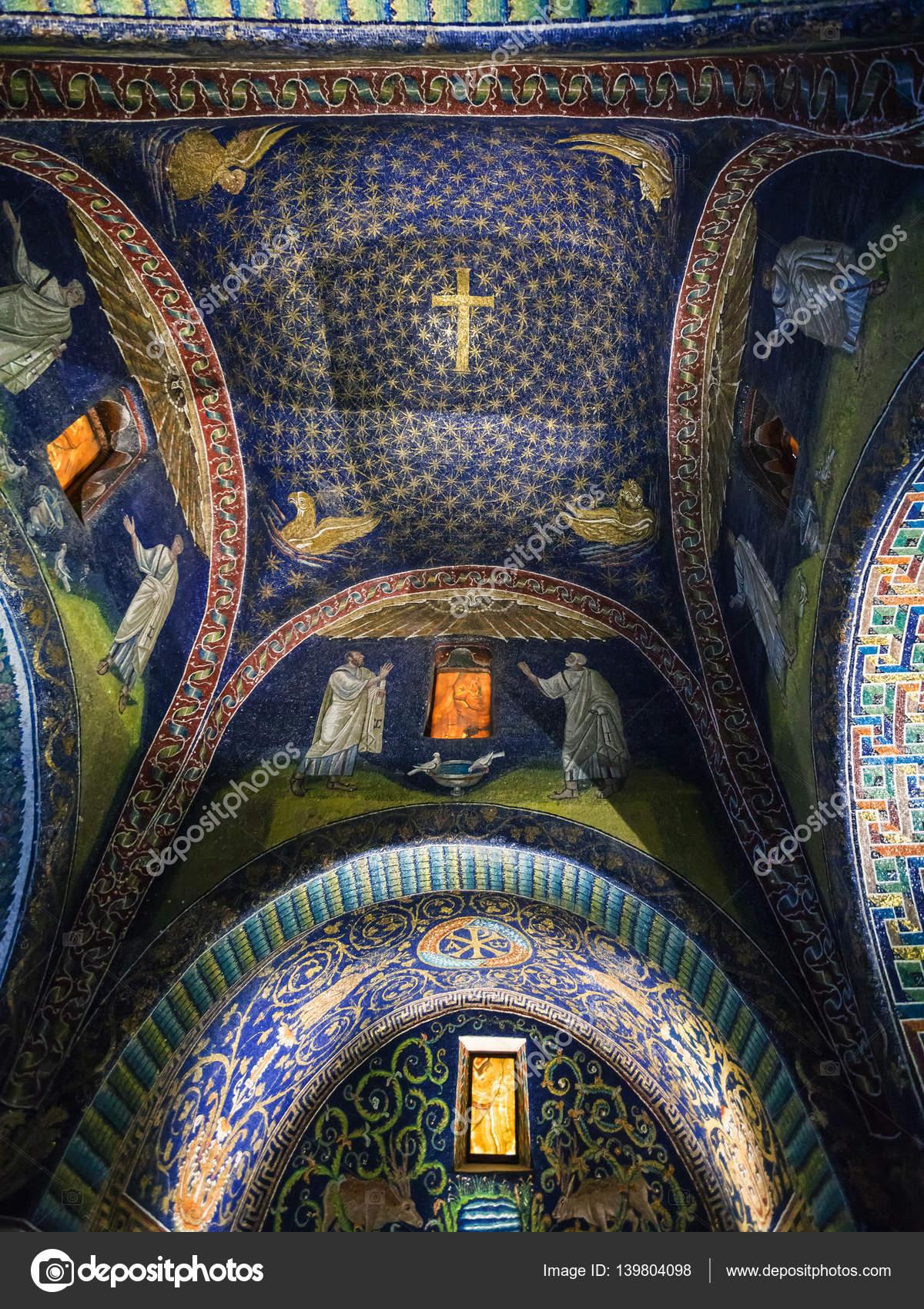 Galla: Ceiling Of Galla Placidia Mausoleum In Ravenna