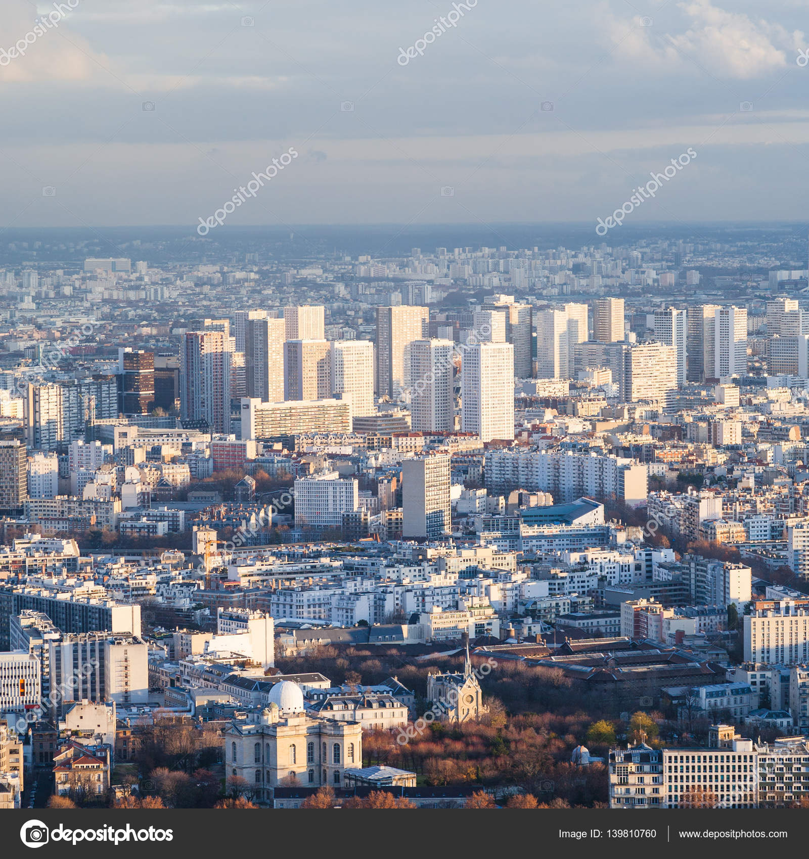 above view of living district in Paris city — Stock Photo © vvoennyy ...
