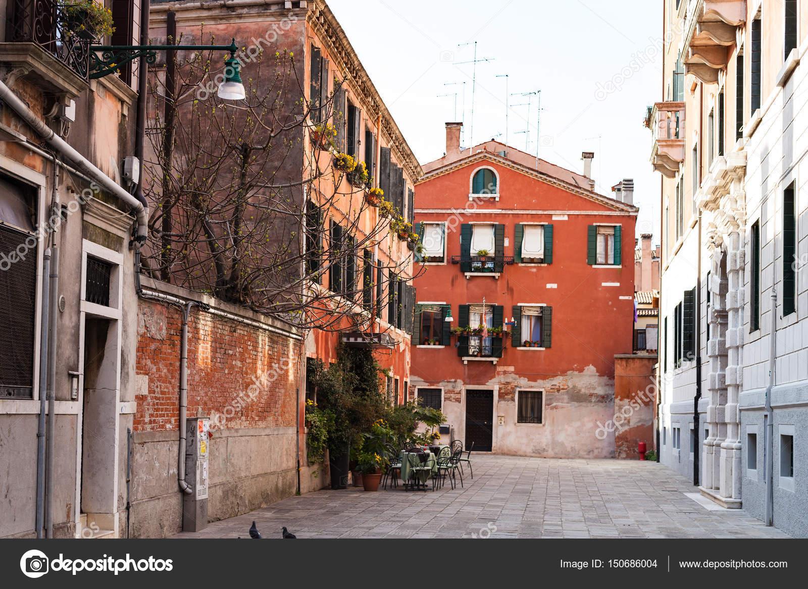 Straße Calle Sechera In Venedig Stadt Im Frühjahr Stockfoto