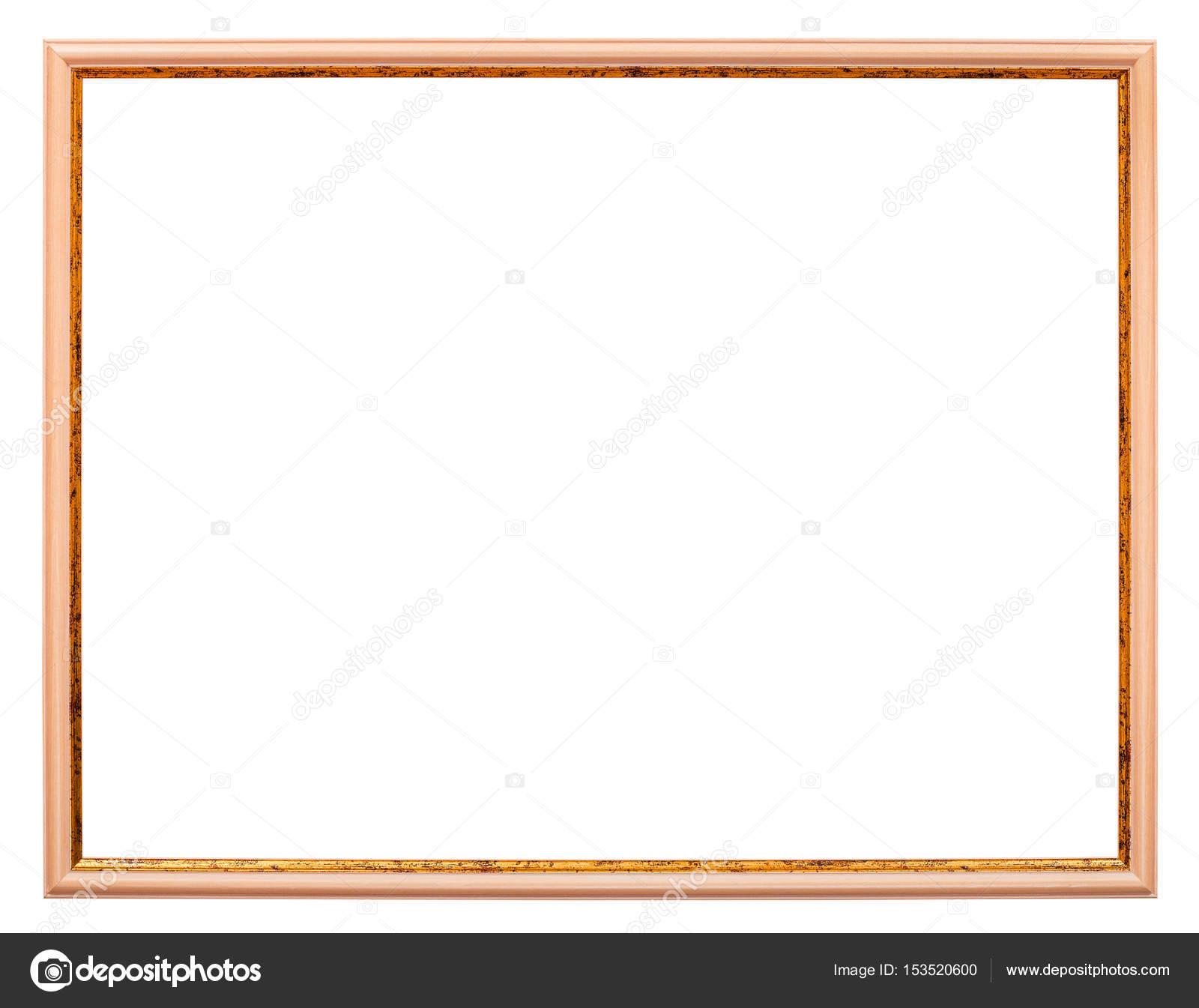 horizontale schmale leichte braune Holz Bilderrahmen — Stockfoto ...