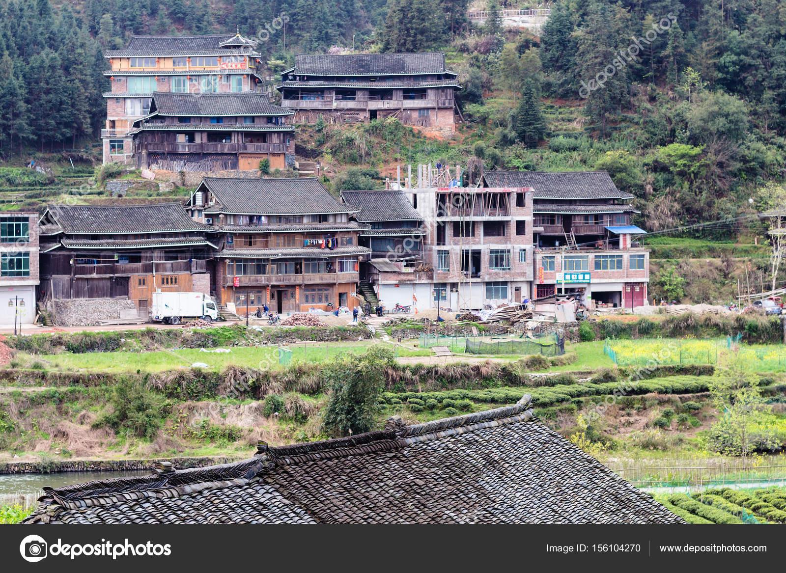 Case di campagna nel villaggio di chengyang e giardini u2014 foto