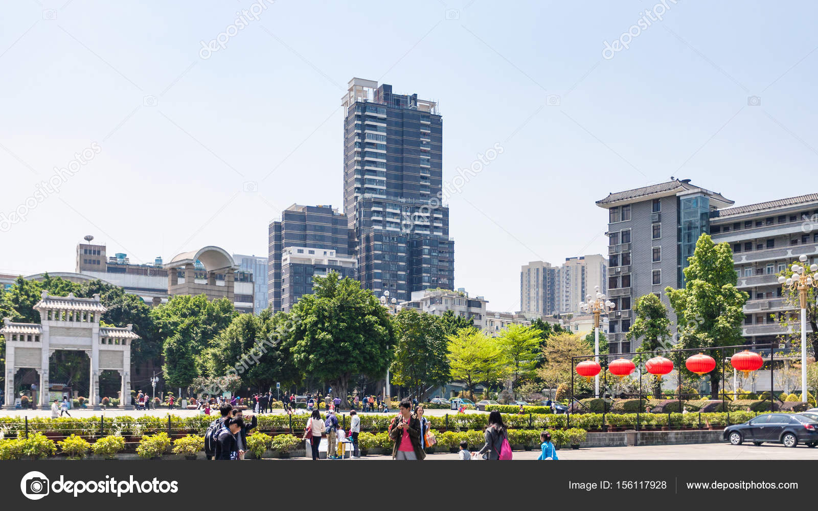 Chen Clan Ancestral Hall Square in Guangzhou – Stock Editorial Photo
