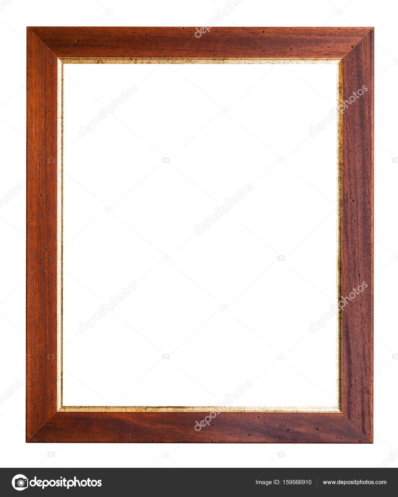 marco de fotos madera ancho marrón y oro — Foto de stock © vvoennyy ...