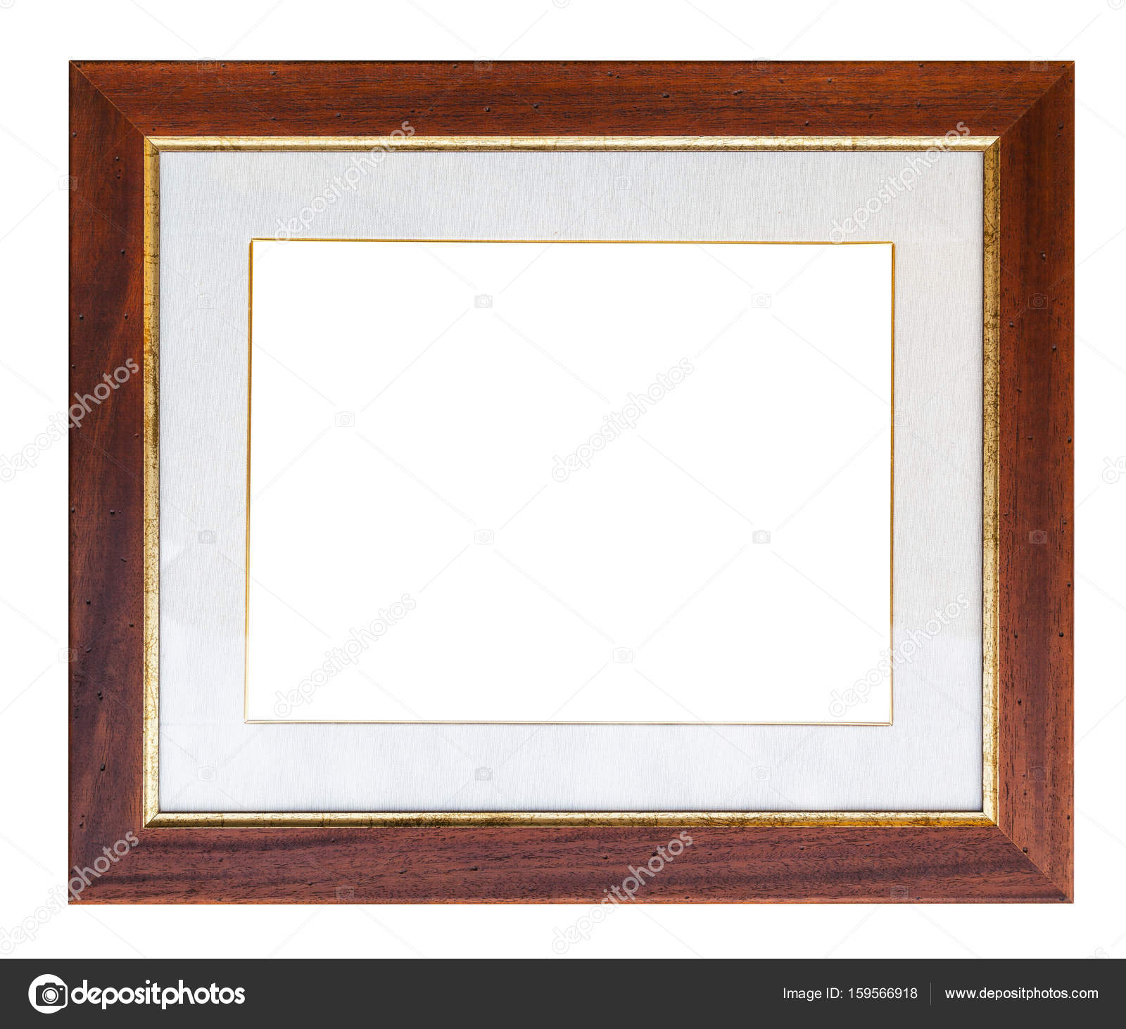 marco de madera ancho marrón con picaporte — Foto de stock ...