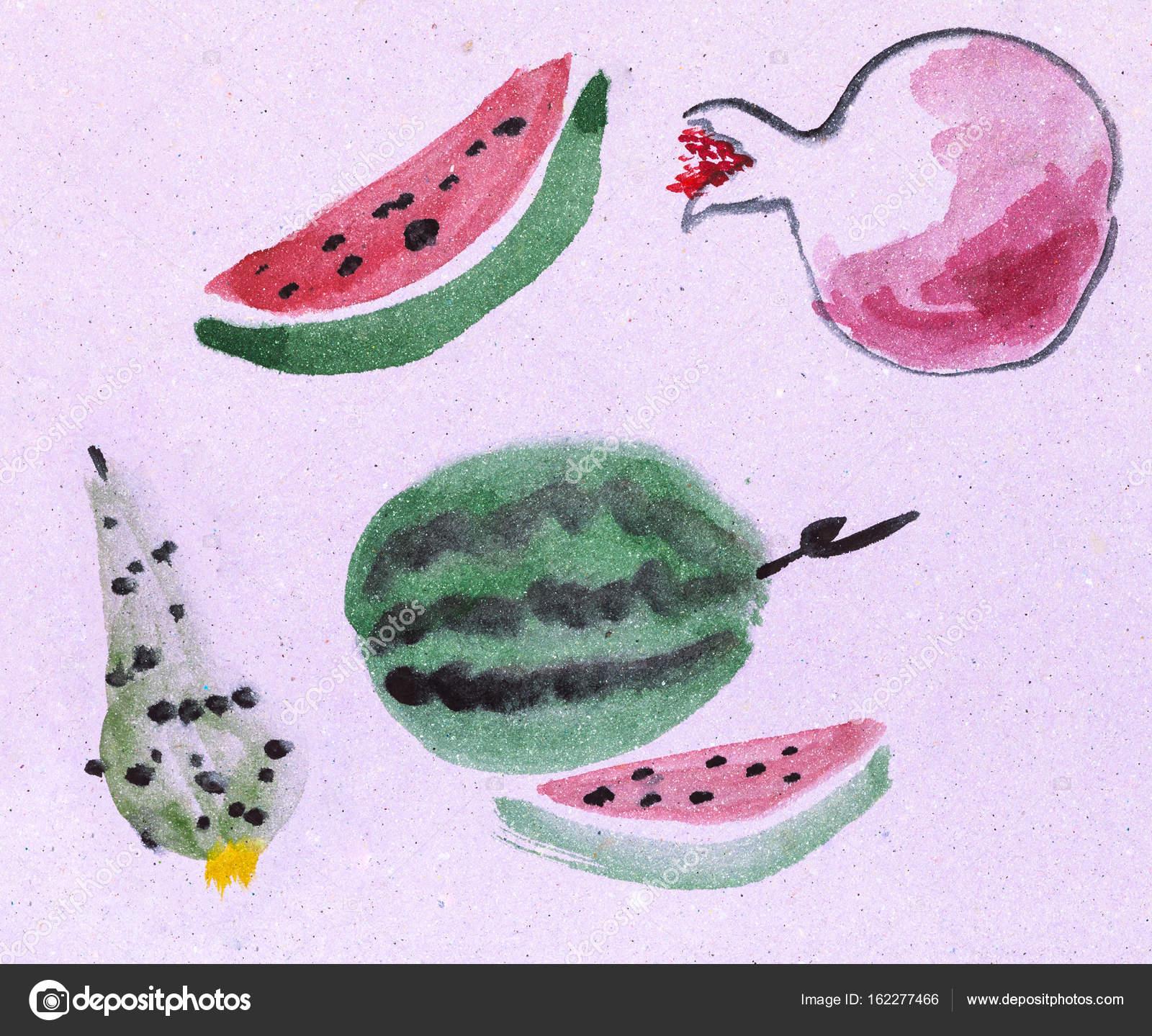Рисунок фруктов на бумаге 14