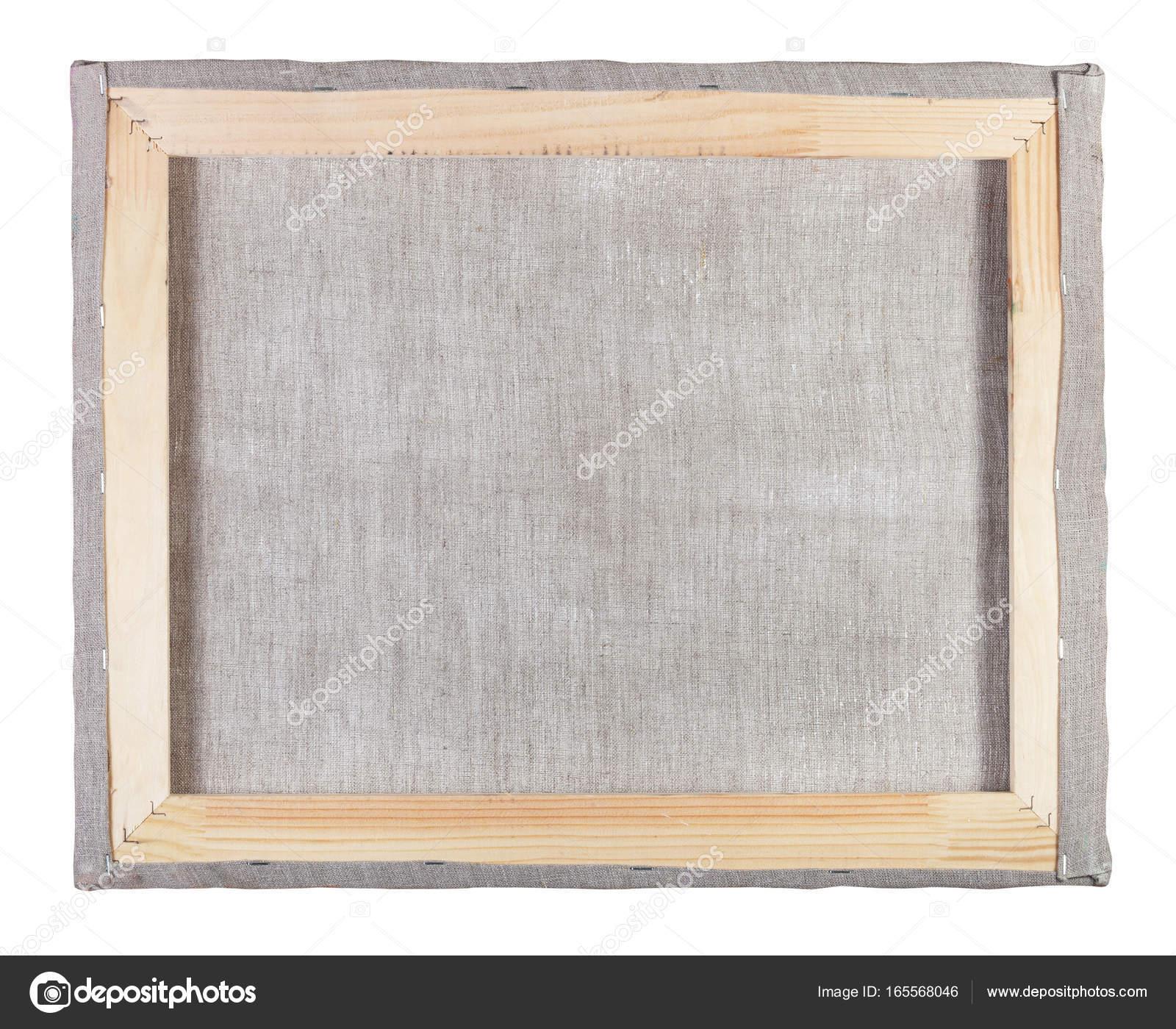 Rückseite der Leinwand auf einen Holzrahmen gespannt — Stockfoto ...