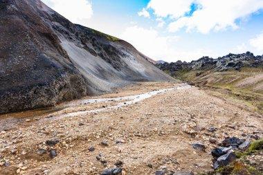 Graenagil canyon in Landmannalaugar in Iceland