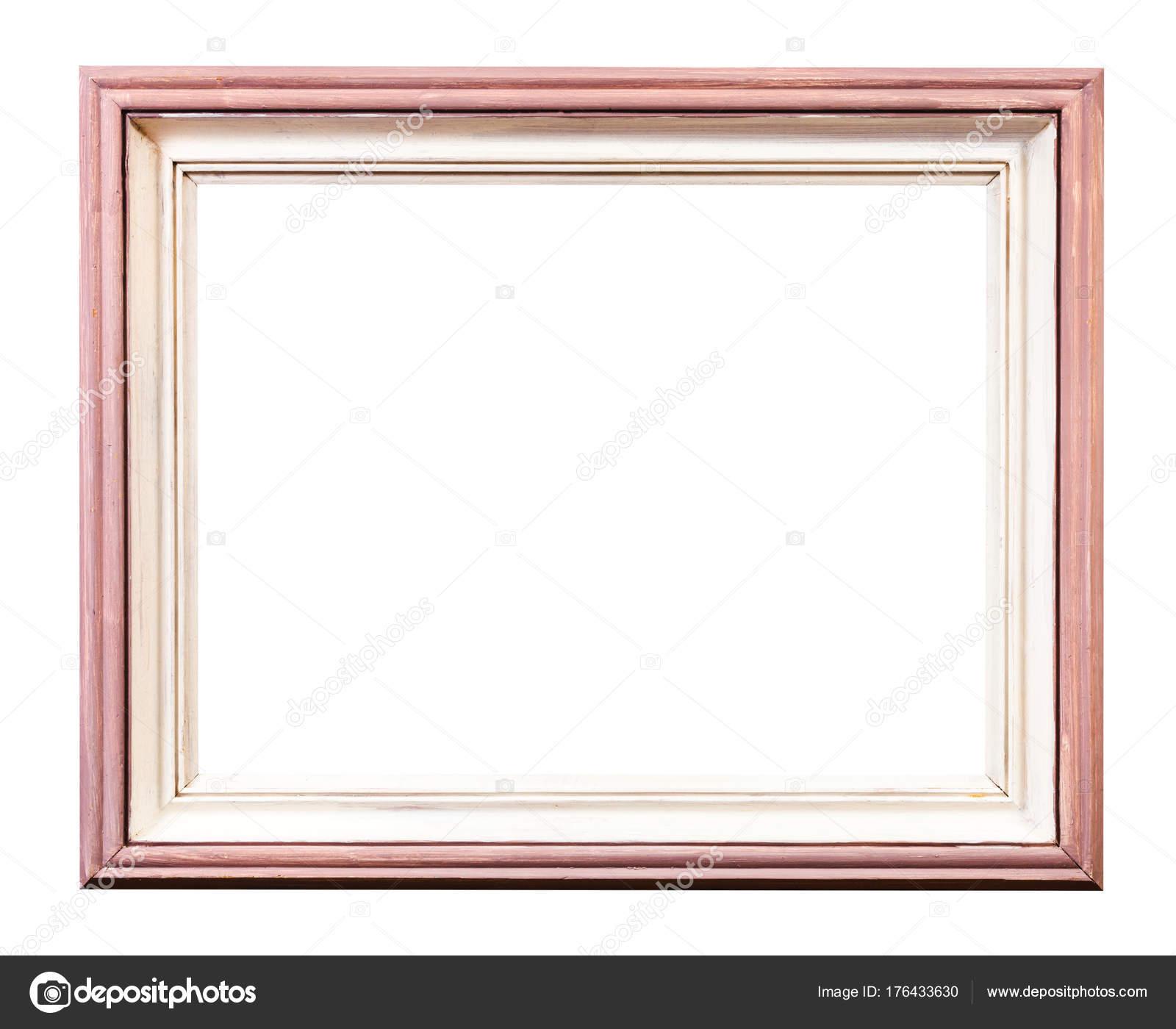 marco de cuadro de madera pintado de color rosa y blanco — Foto de ...
