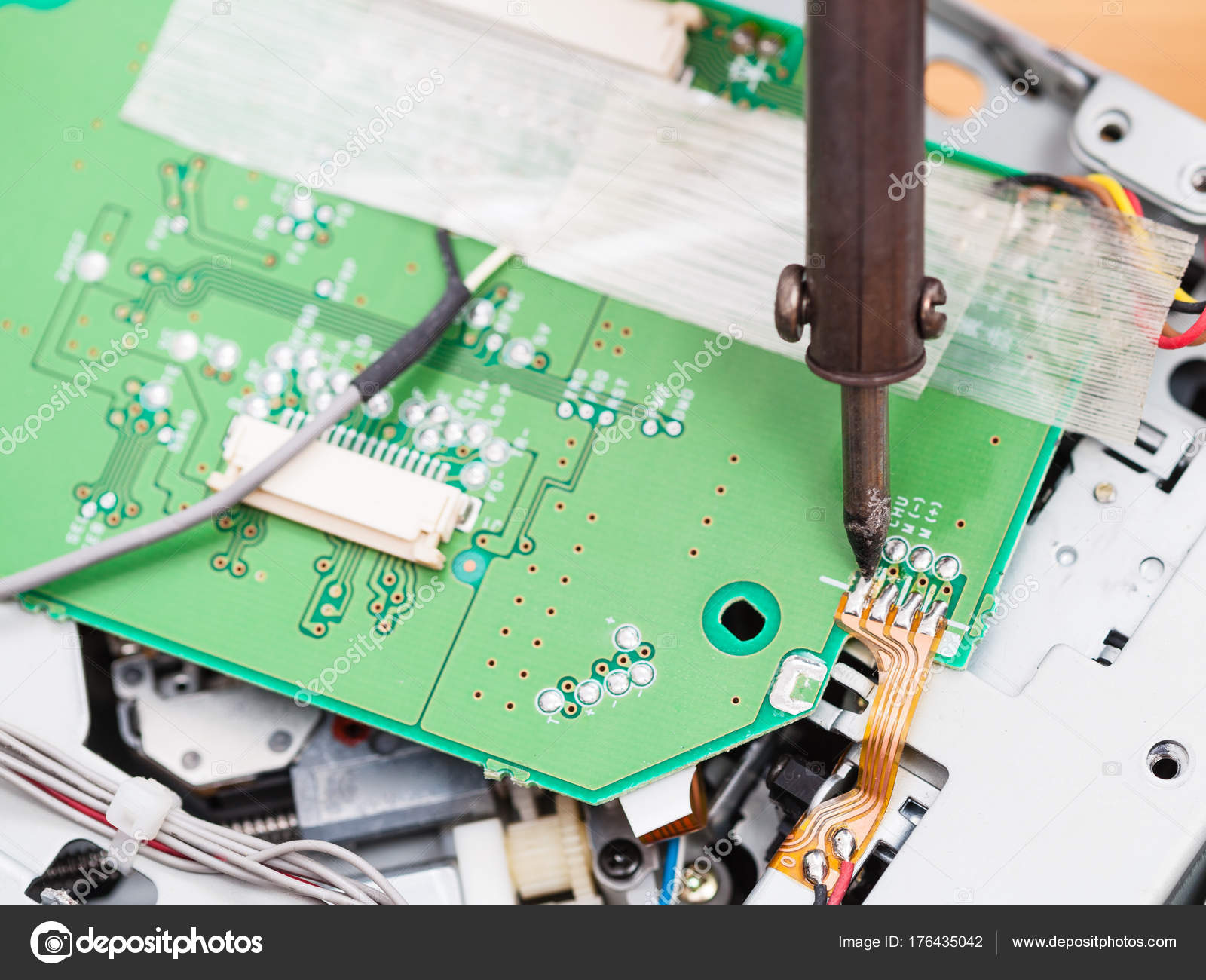 Solder Circuit Board Repair A Good Owner Manual Example Best Iron For Boards Electric With Soldering Stock Photo Rh Depositphotos Com Quality Hand