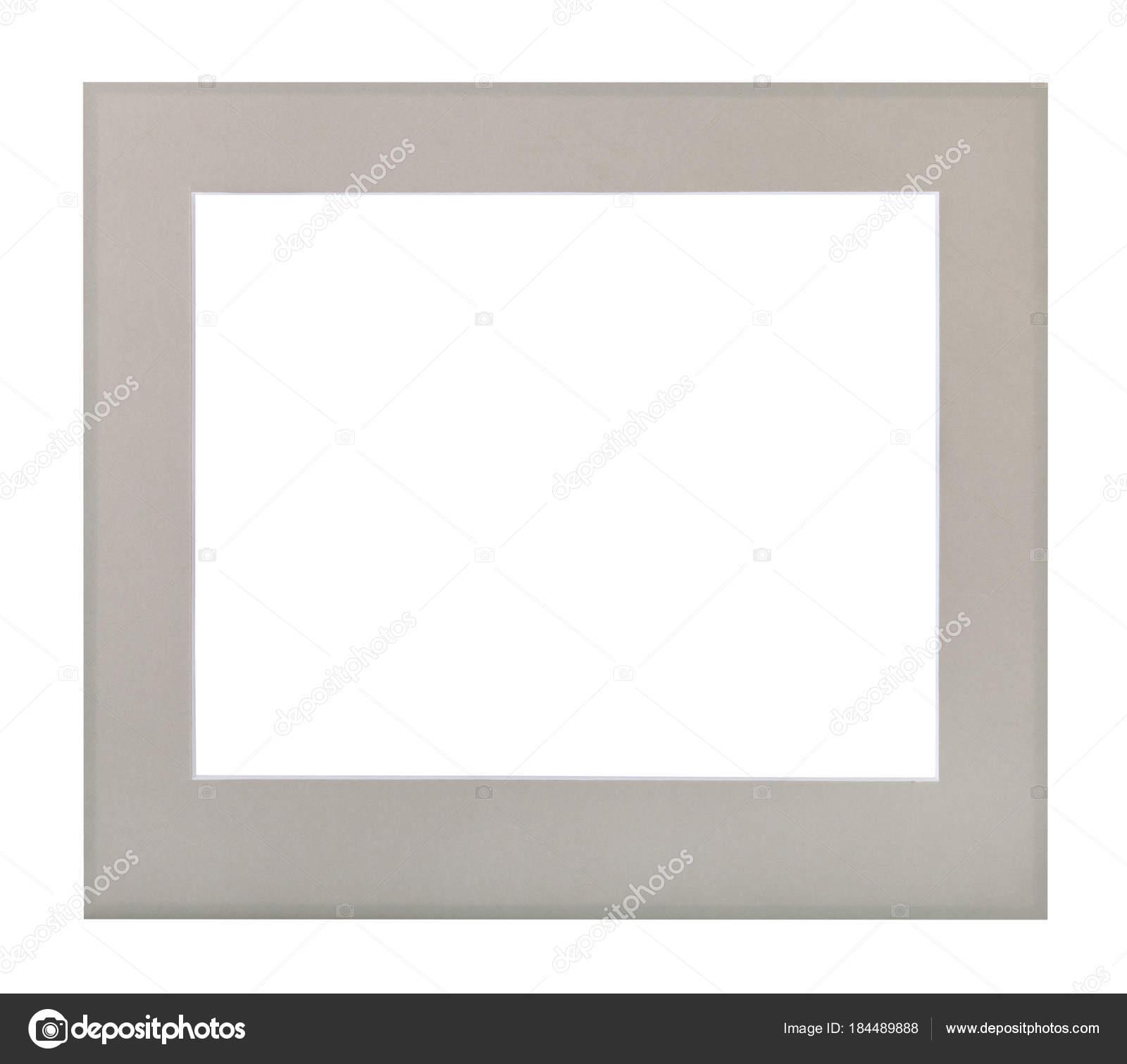 breiten flachen grauen Passepartout für Bilderrahmen — Stockfoto ...