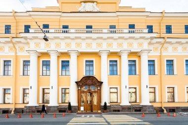 facade of Yusupov palace on Moyka river embankment