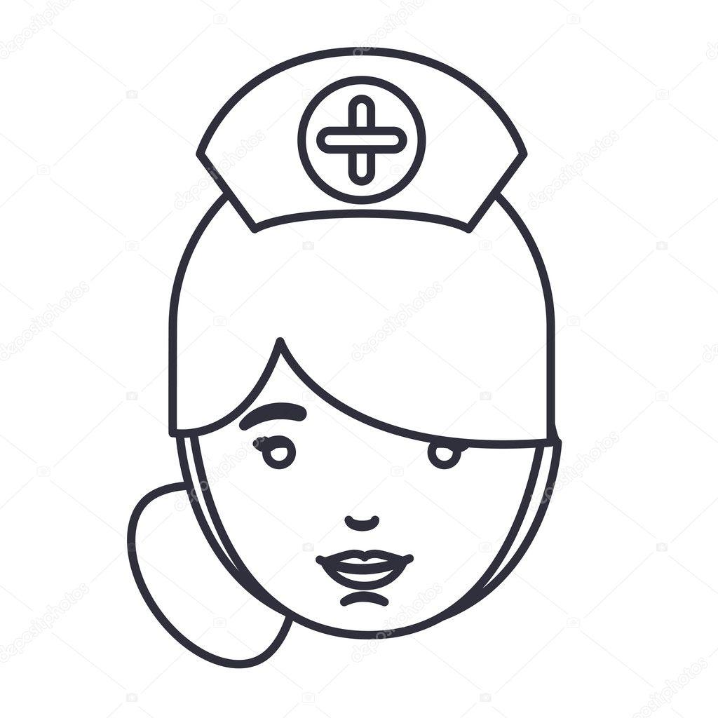 Dejting tecknade bilder sjuksköterska