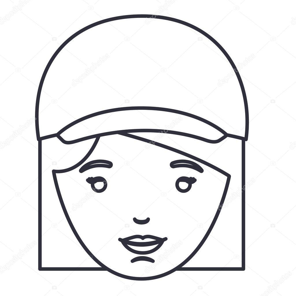 Isolierte Frau Cartoon Mit Hut Design Stockvektor C Grgroupstock
