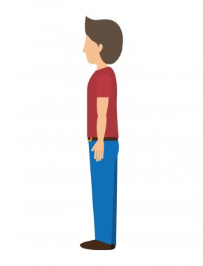 man standing with left profile t-shirt