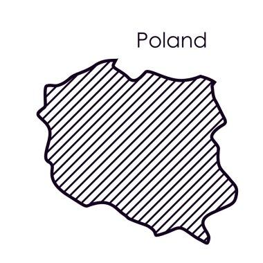 Isolated poland map design