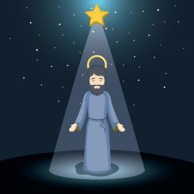 Joseph cartoon and christmas design