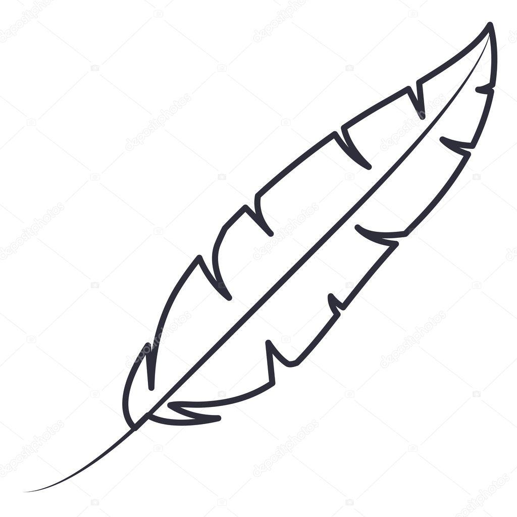 ge 239 soleerde veer pluim ontwerp stockvector