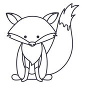 Izolované fox kreslený design