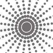 Fotografie pattern points in sun shape