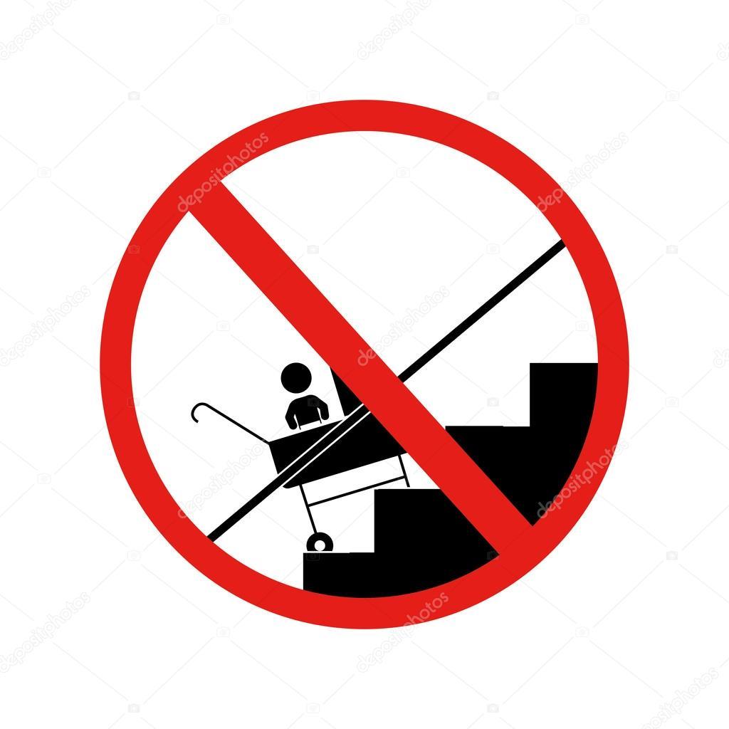 prohibido el coche de bebé por las escaleras — Archivo Imágenes ...