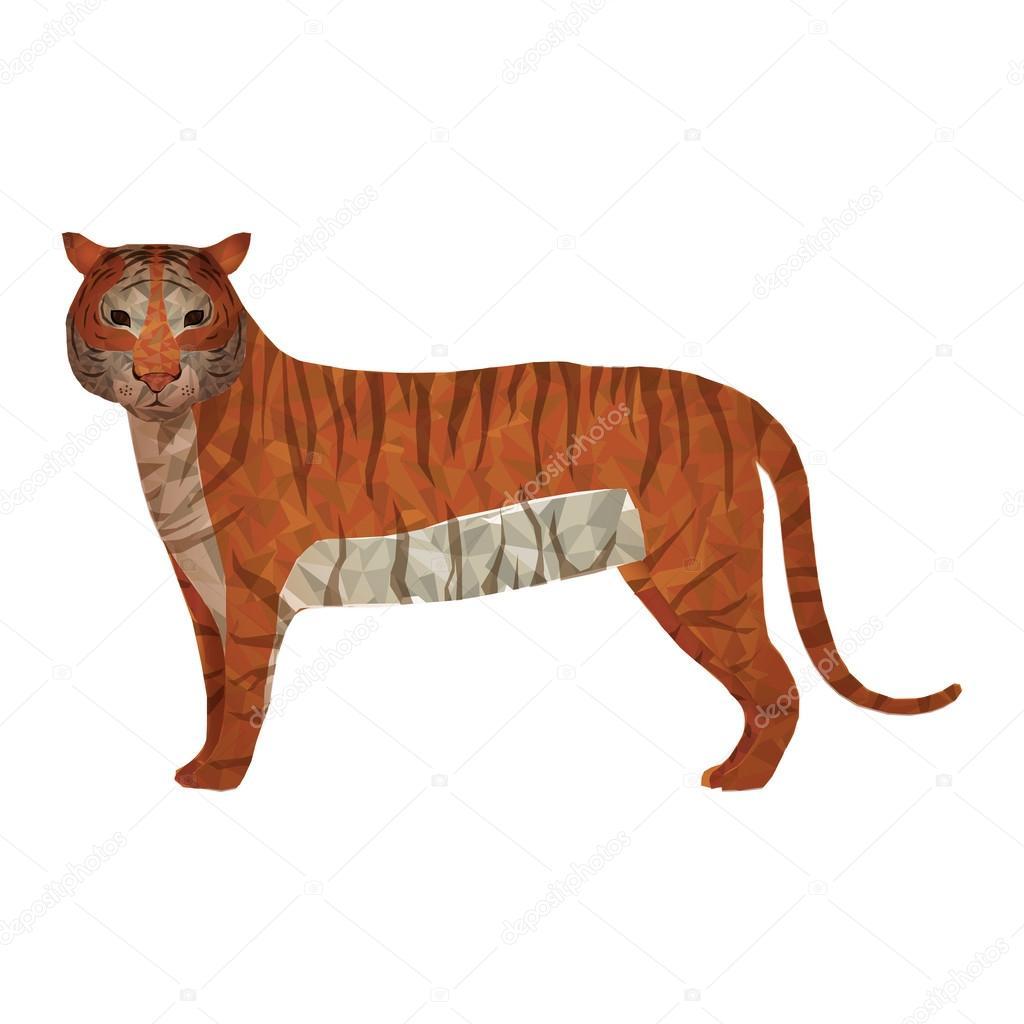 tiger abstract design