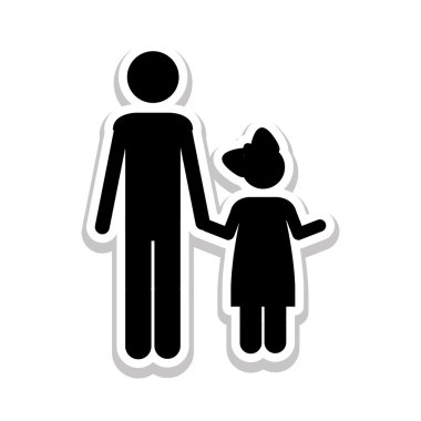 father and child icon pictogram image