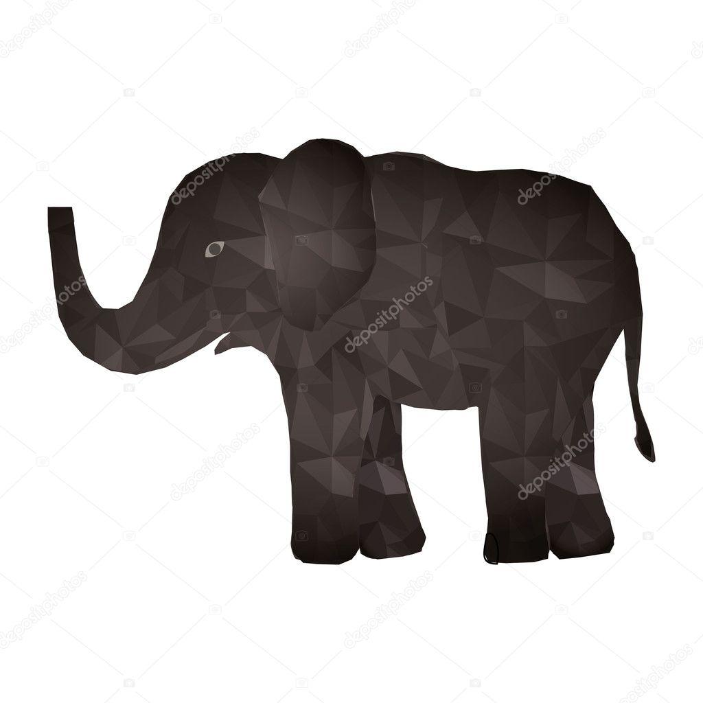 Elefant abstrakte Muster — Stockvektor © grgroupstock #128181424