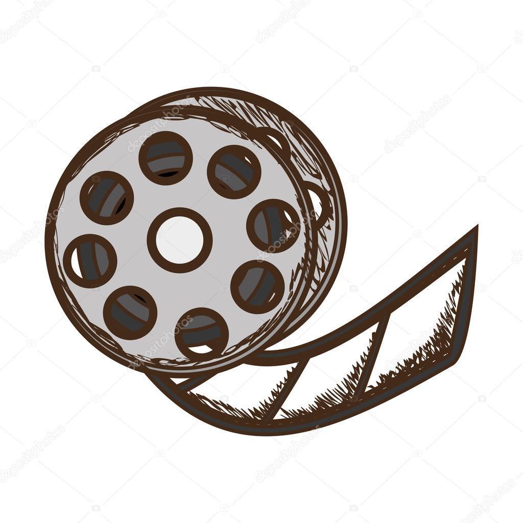 film tape reel icon image ストックベクター grgroupstock 128195044