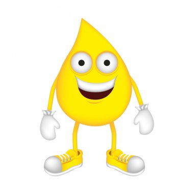 yellow drop cartoon drop icon image