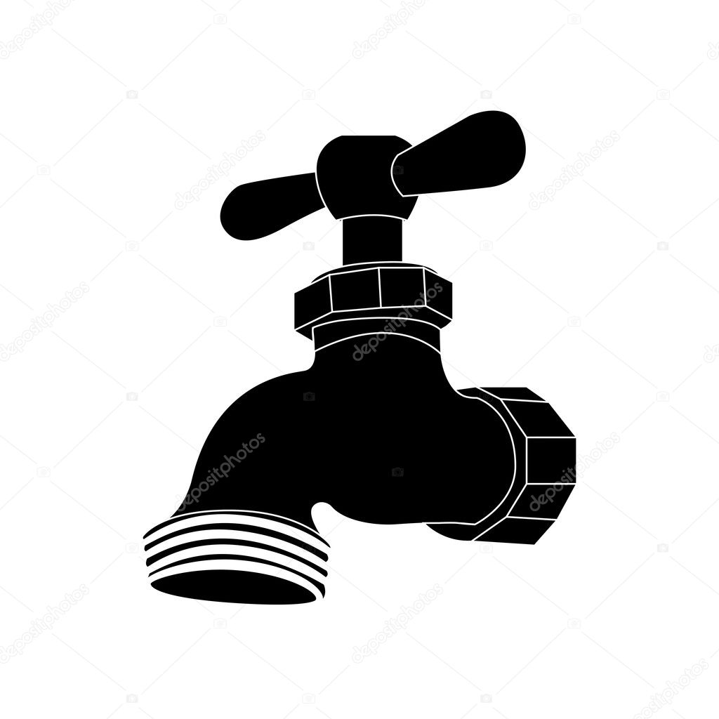 faucet or tap icon image — Stock Vector © grgroupstock #128373592