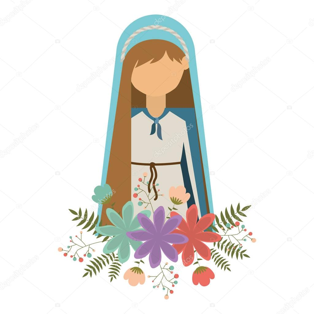 Diseño De La Virgen María Vector De Stock Grgroupstock 128941264
