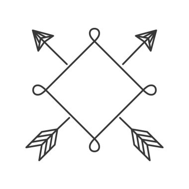 silhouette square with arrows outside