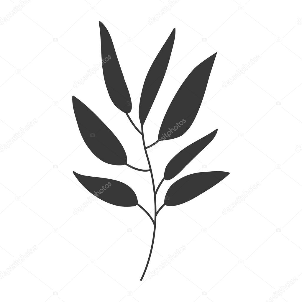 gray scale big leaves olive