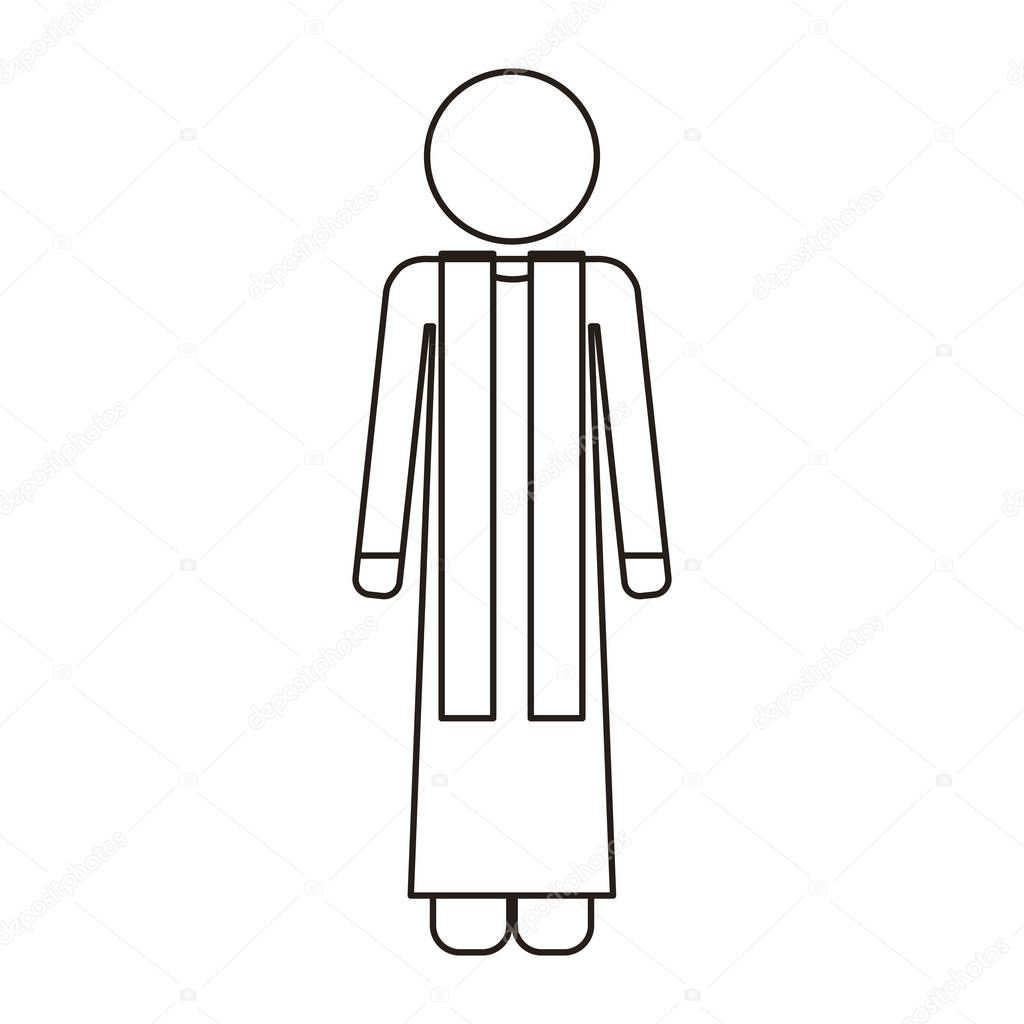 Priest With Religion Icons Stock Vector Grgroupstock 129150134