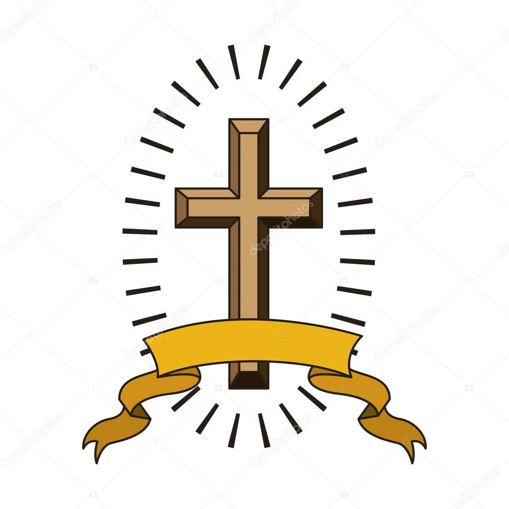 Croix Religieuses icône croix religieuse — image vectorielle grgroupstock © #129150844
