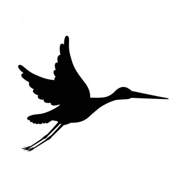 stork bird design