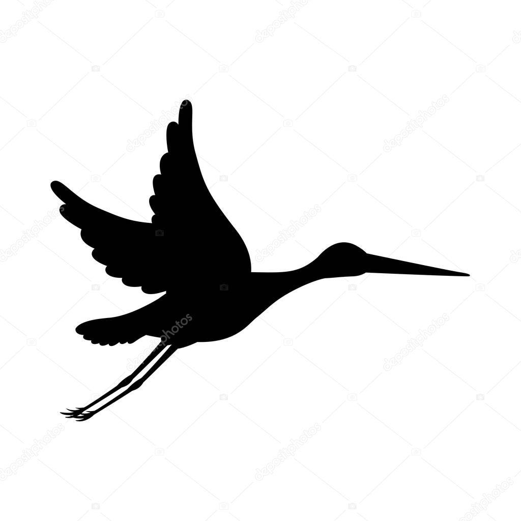 Leylek Kuş Tasarım Stok Vektör Grgroupstock 129170080