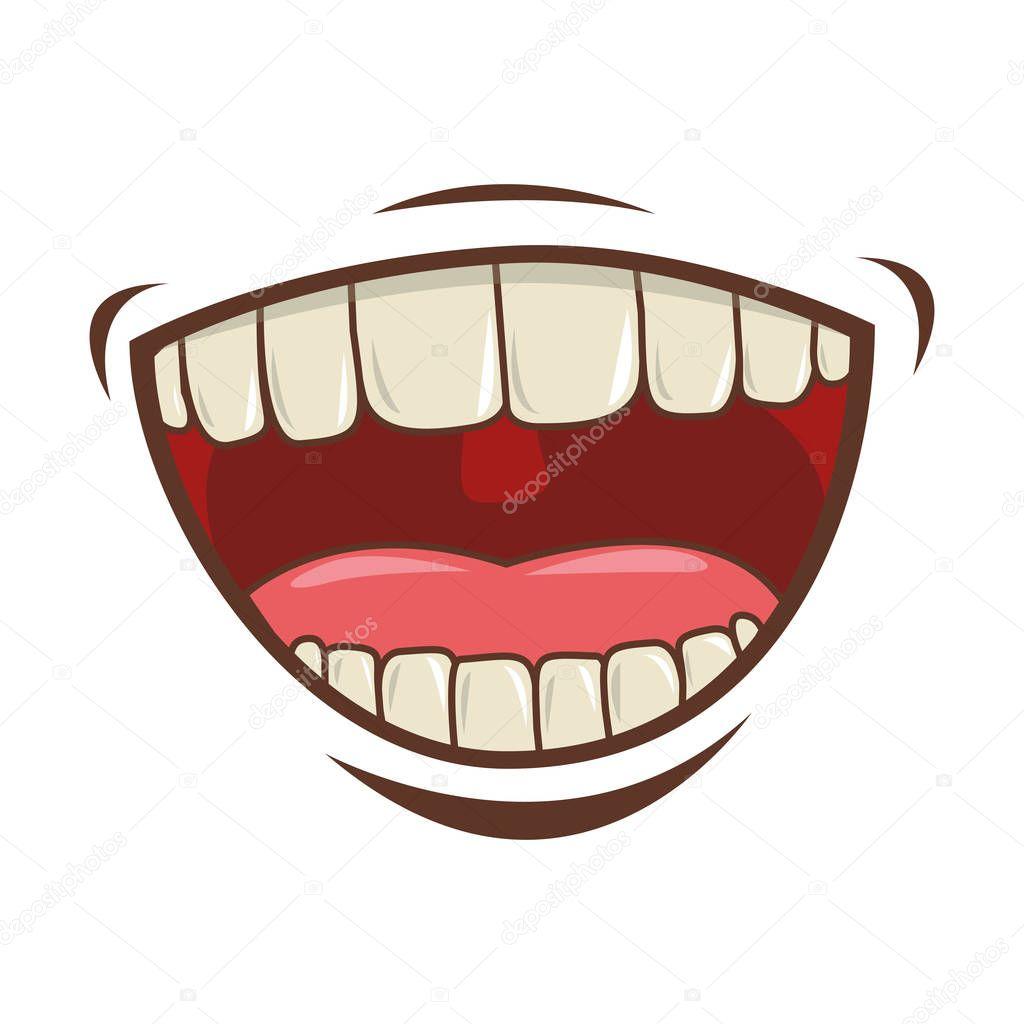 mouth cartoon icon stock vector grgroupstock 129262588 rh depositphotos com mouth cartoon png mouth cartoon