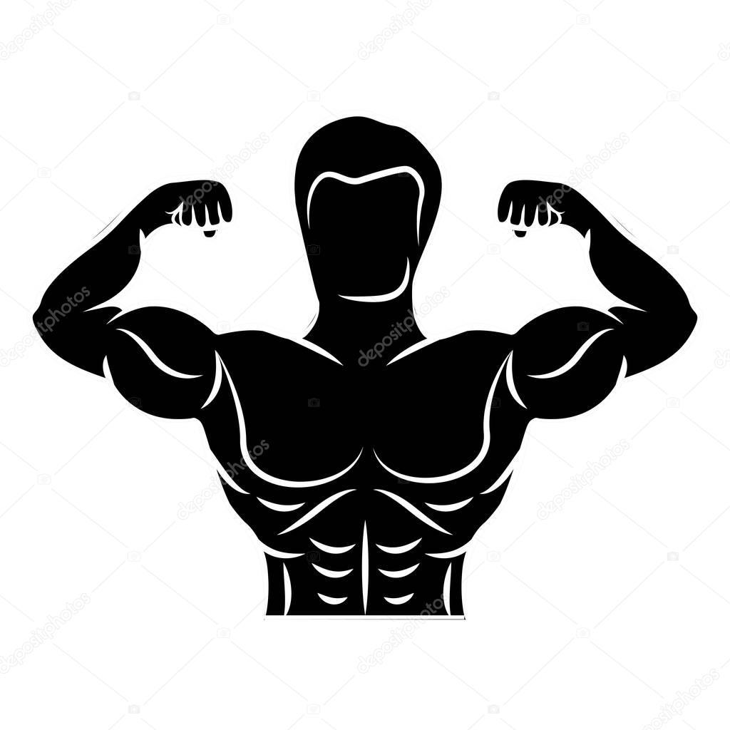 Diseño de músculo culturismo — Vector de stock © grgroupstock #129416234