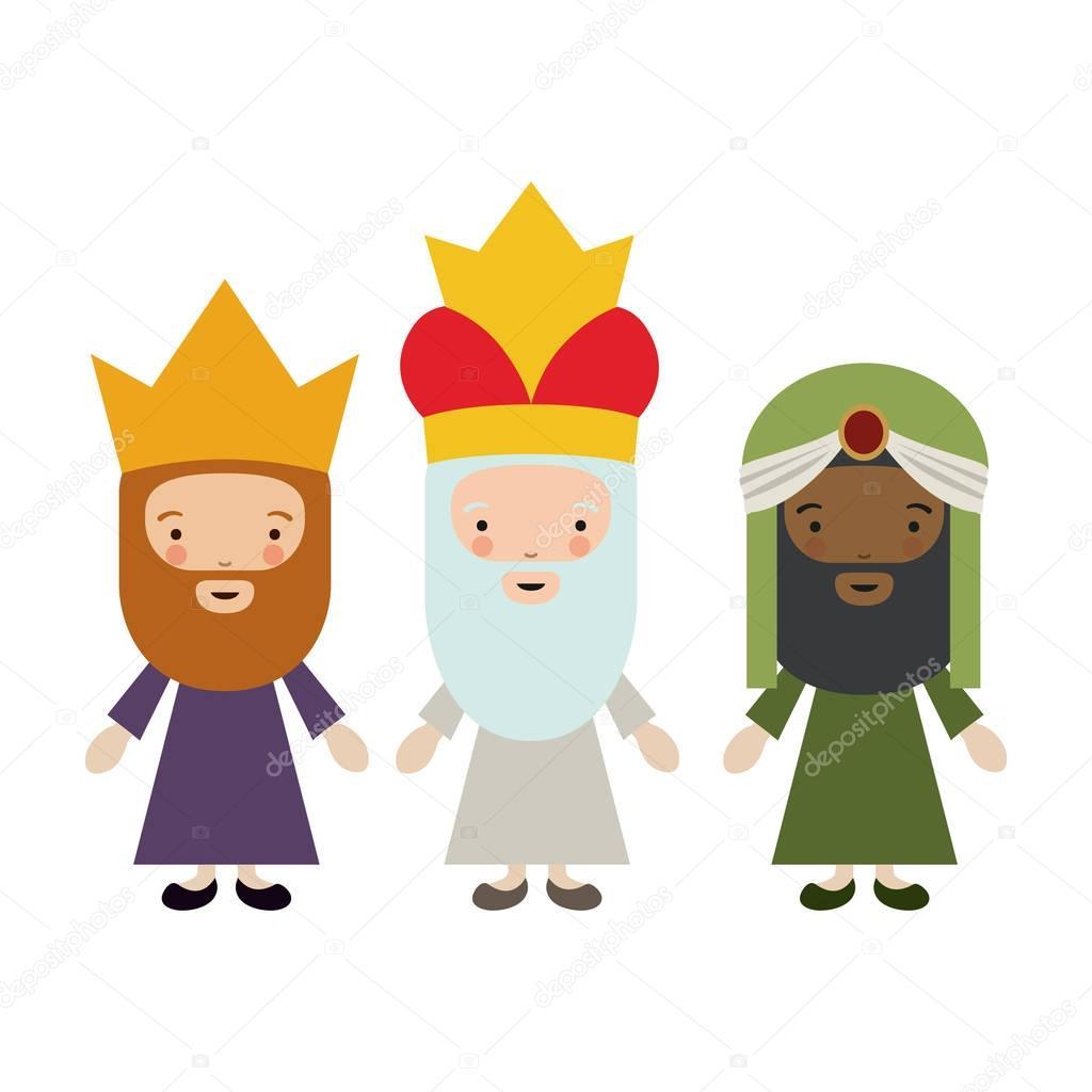 El Diseño De Dibujos Animados De Tres Reyes Magos Archivo Imágenes