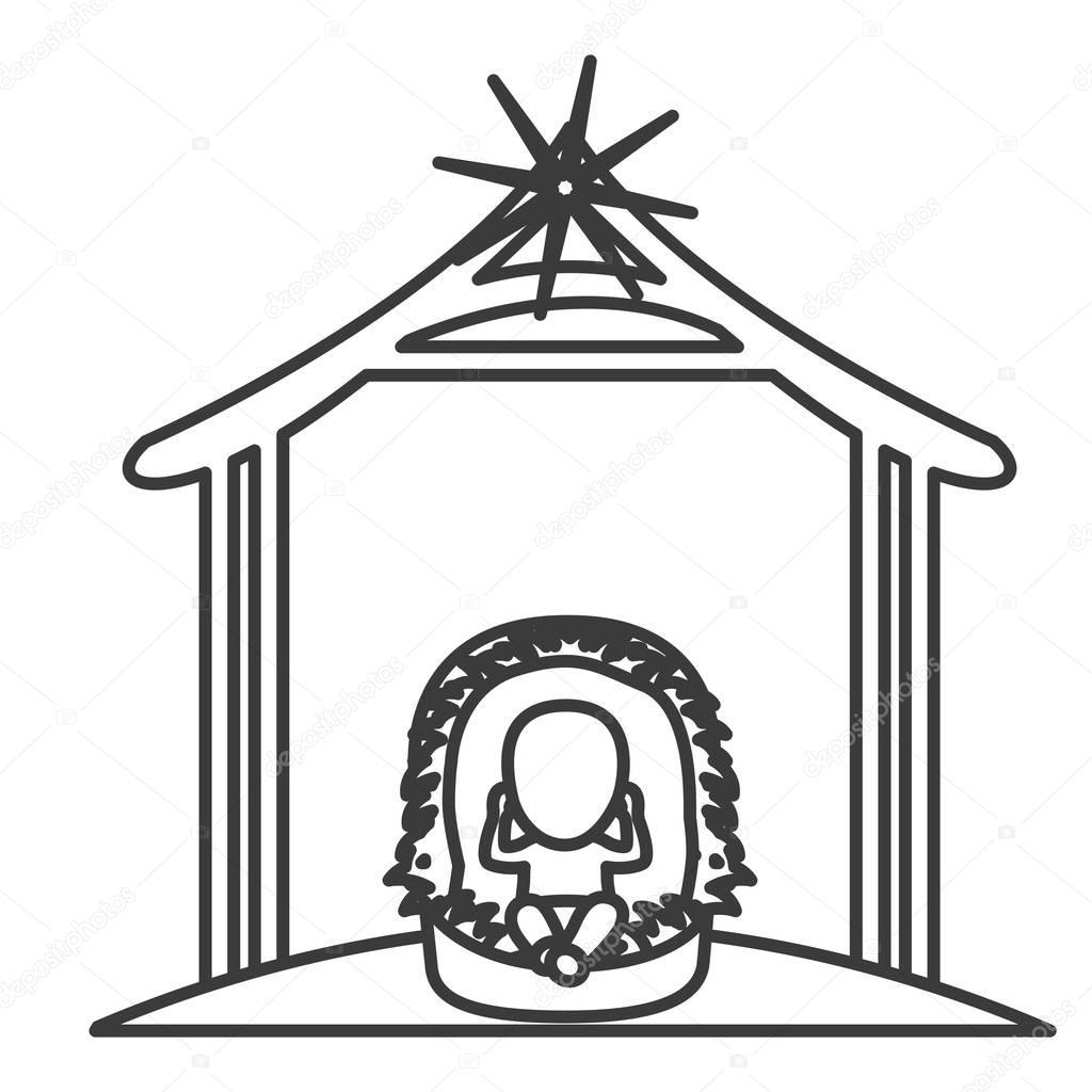 Dibujos De Navidad Con Jesus.Dibujos Animados De Jesus De Bebe De Diseno Noche Santa