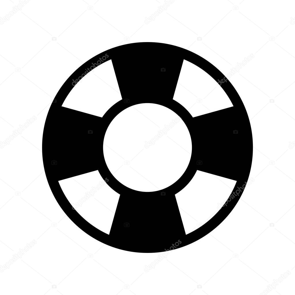 da8a75fdefa9 Striped float. nautical symbol icon over white background. vector  illustration — Vector by ...