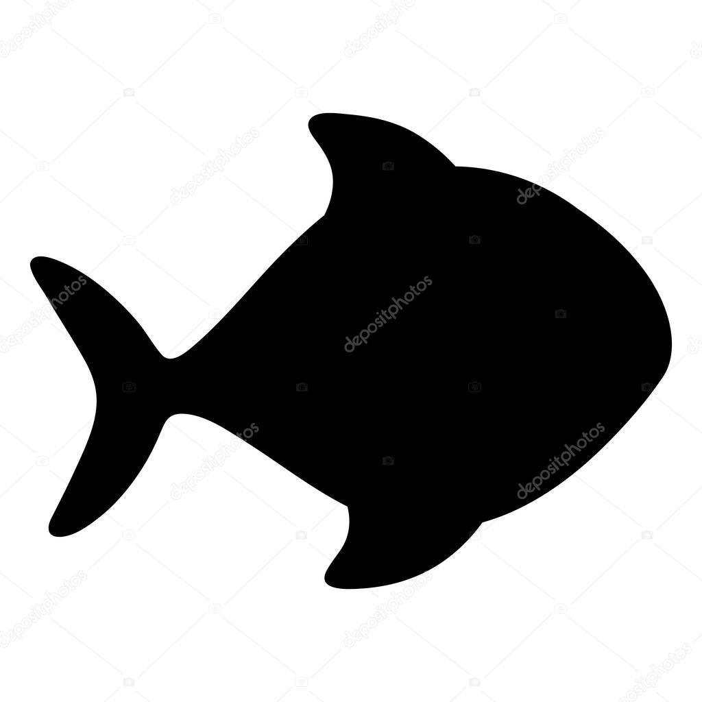 fish cartoon silhouette icon image