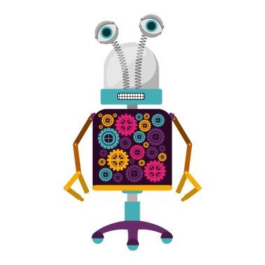 colorful robot design