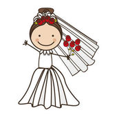 bride cartoon icon image