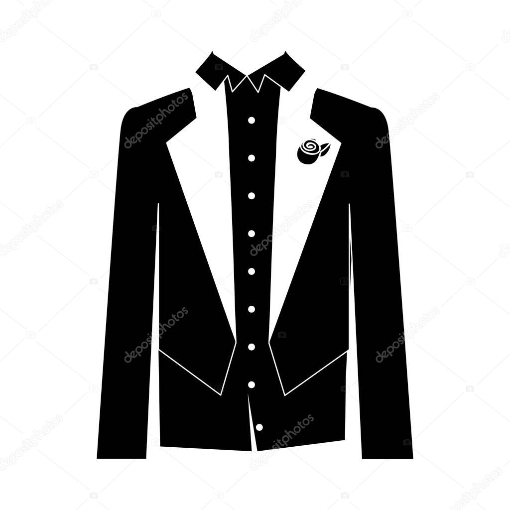 imagen de icono de traje de novio — Archivo Imágenes Vectoriales ... 51e98307e95