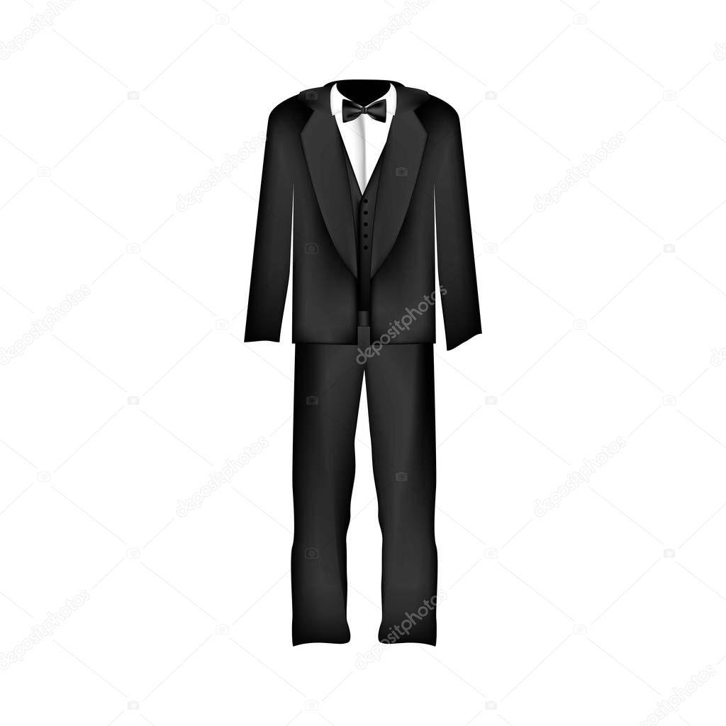 imagem de ícone de terno ou smoking masculina — Vetor de Stock ... f98fb7b59d6