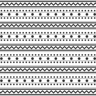 pattern monochrome with dots and lines