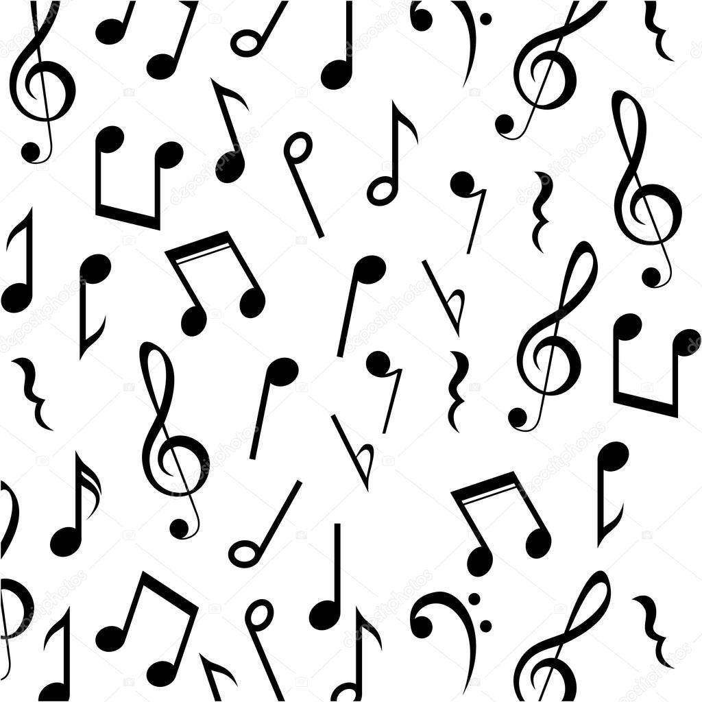 Music note background design — Stock Vector © grgroupstock ...