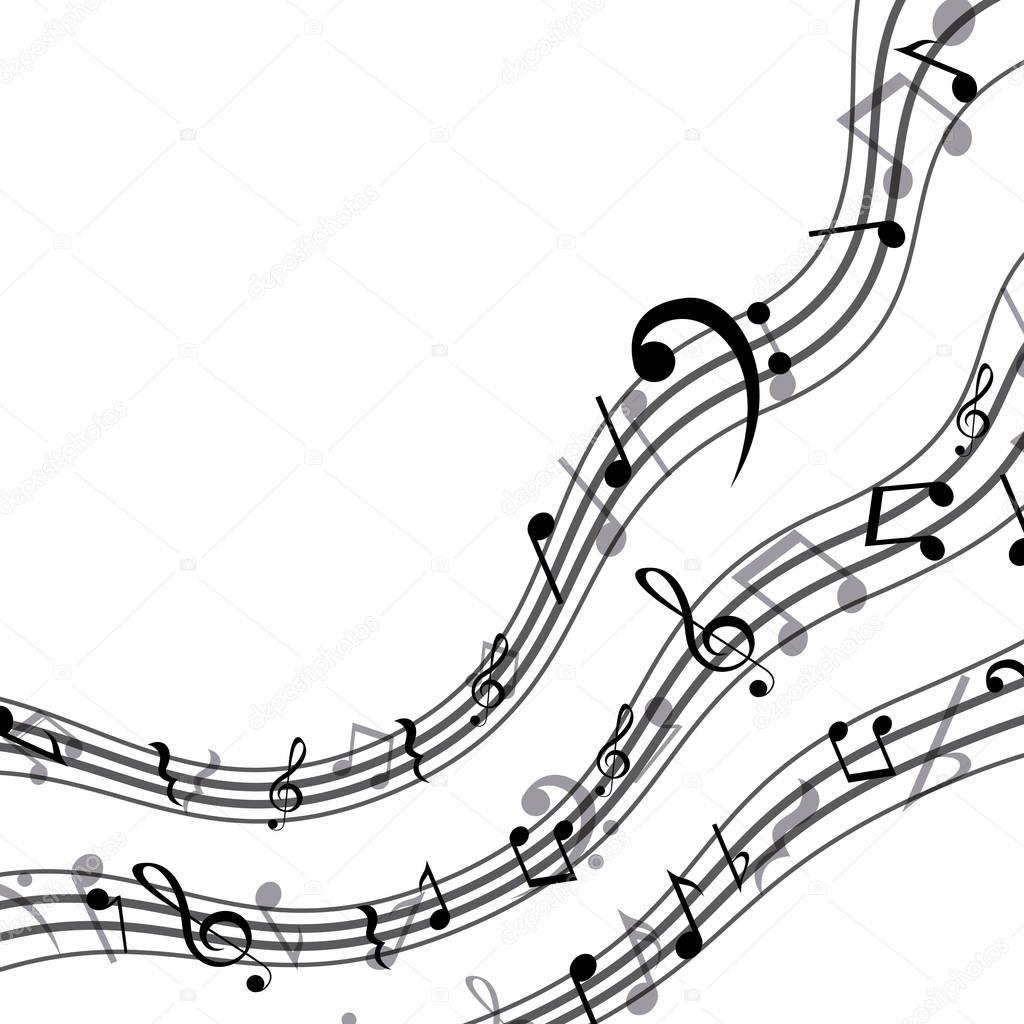 Diseño de nota de música aislada — Archivo Imágenes Vectoriales ...